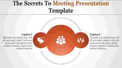 meeting presentation template with circles