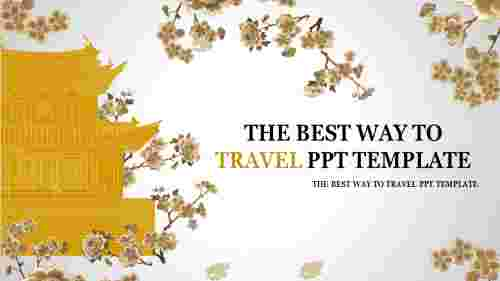 Travel PPT template cover page