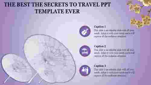 TravelPPTtemplatewithacoloredbackground