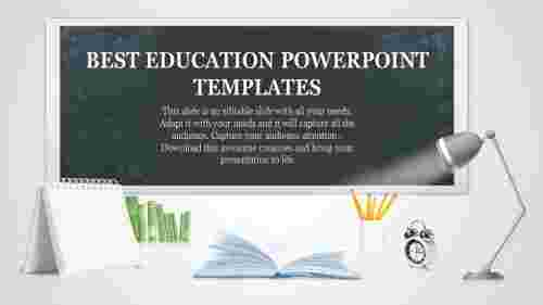 education powerpoint templates with lighting lamp