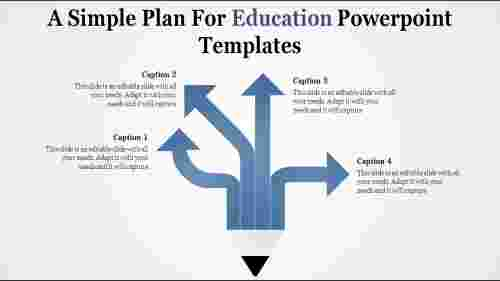 education powerpoint templates with split arrows