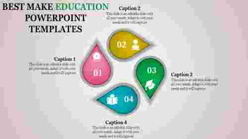 education powerpoint templates with drop shapes