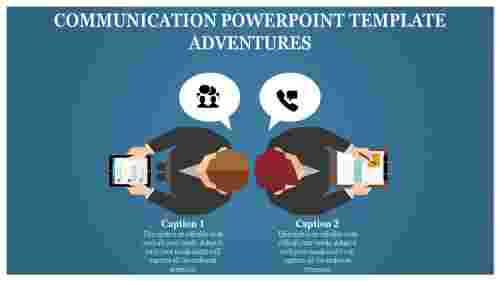 Silhouetttes communication powerpoint template-Two stages