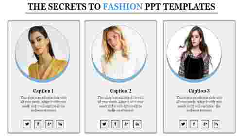 A three noded fashion ppt templates