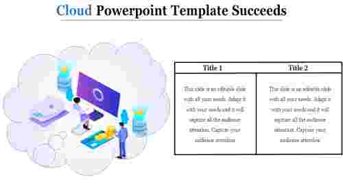 A one noded cloud powerpoint template