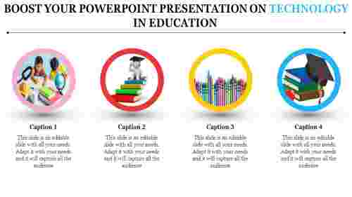 A four noded powerpoint presentation on technology