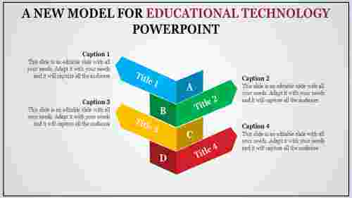 A four noded educational technology powerpoint pres