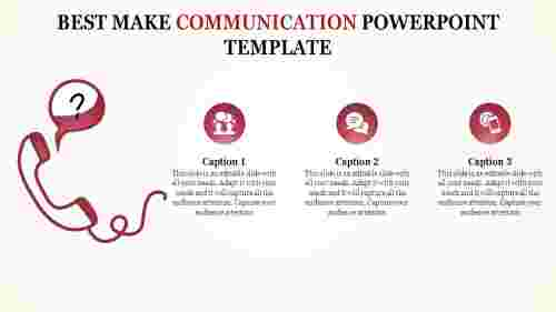 Communication powerpoint template-Three stages