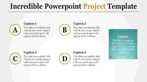 A three noded powerpoint project template