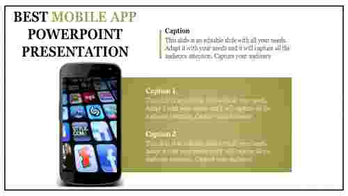 A one noded mobile app powerpoint presentation
