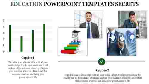 A two noded education powerpoint templates