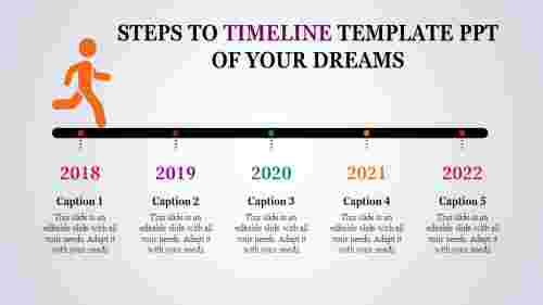 Timeline Template PPT Steps