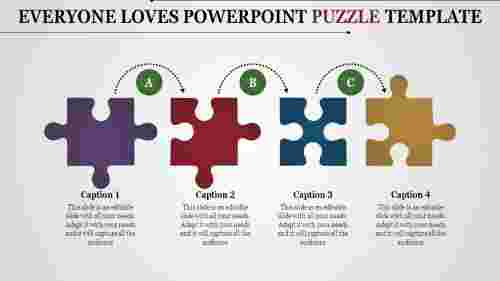 A four noded powerpoint puzzle template