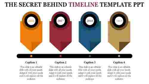 artistic timeline template PPT