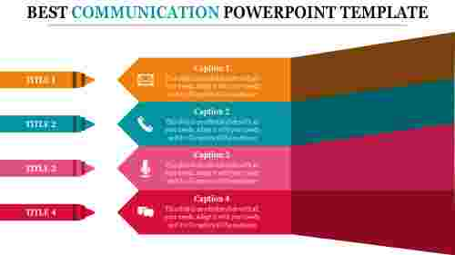 Communication powerpoint template-Arrow shaped model