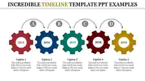 timeline template PPT - gear wheel model