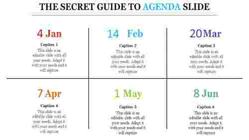 Agenda slide template PPT pros