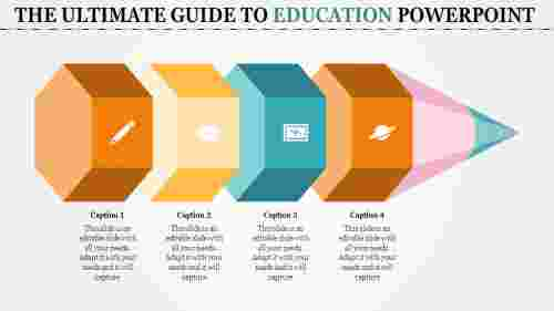 A four noded education powerpoint templates