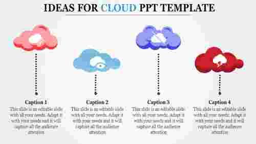A four noded cloud ppt template