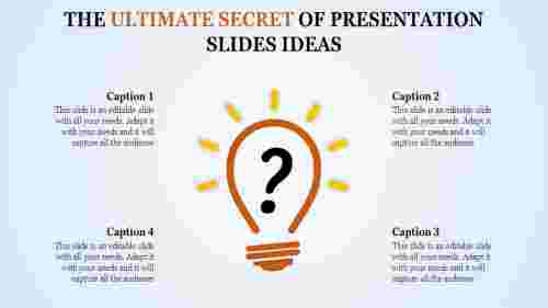 A one noded presentation slides ideas