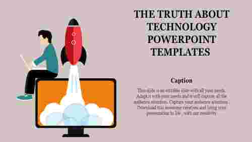 A one noded technology powerpoint templates