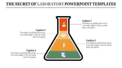 A four noded laboratory powerpoint templates