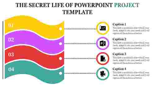 A four noded powerpoint project template