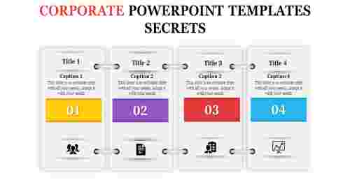 A four noded corporate powerpoint templates
