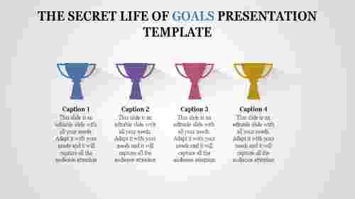 A four noded goals presentation template