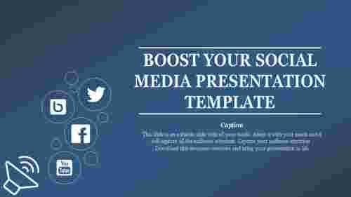 A one noded social media presentation template
