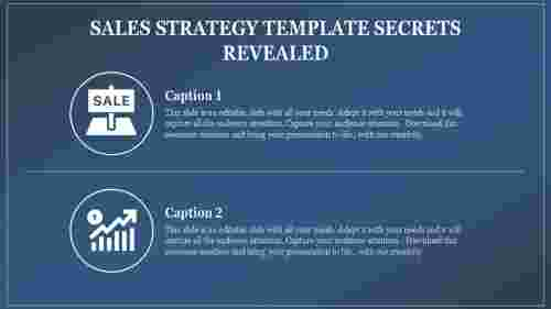 A two noded sales strategy template