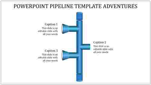 A three noded powerpoint pipeline template
