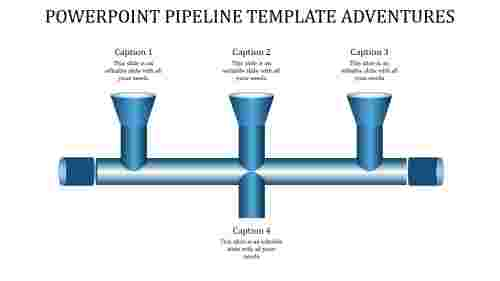 PowerPoint pipeline template-tube model