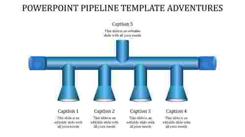 A four noded powerpoint pipeline template