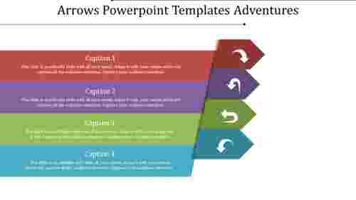 Grouped arrows powerpoint templates