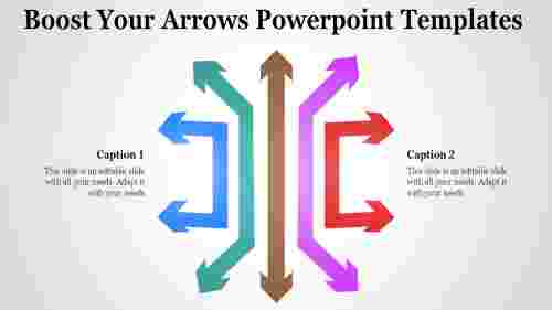 Left right arrows powerpoint templates