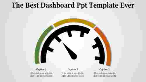 A one noded dashboard PPT template