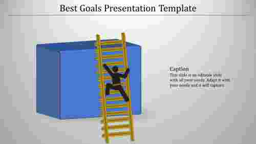 A one noded goals presentation template