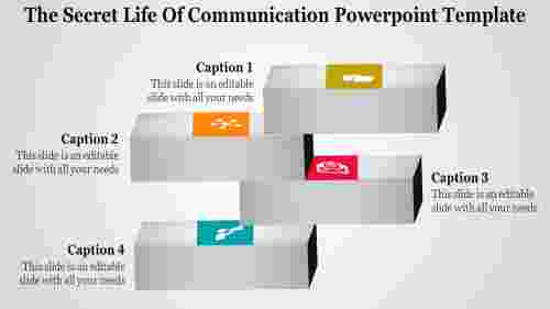 Four stages communication powerpoint template