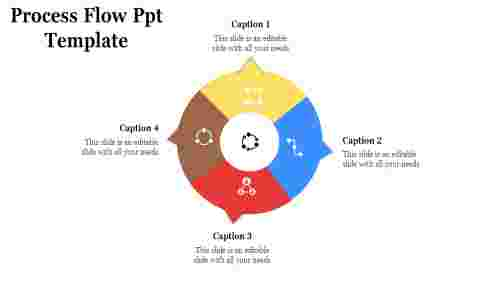 A four noded process flow PPT template