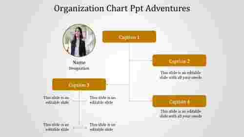 A four noded organization chart ppt