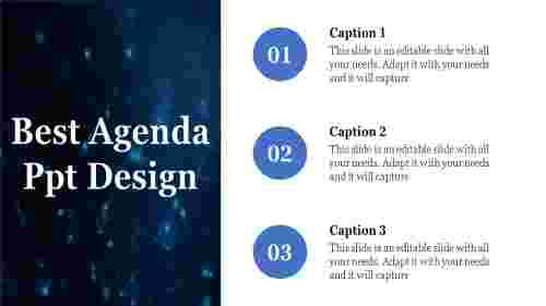 A three noded agenda ppt design