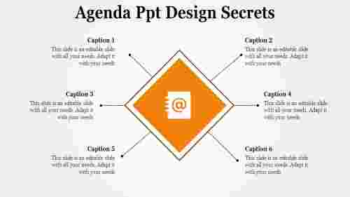 Diamond model agenda PPT design