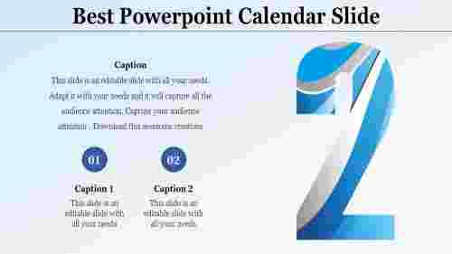 PowerPoint calendar slide presentation