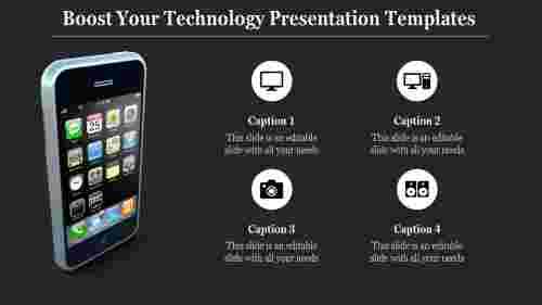 A three noded technology presentation templates