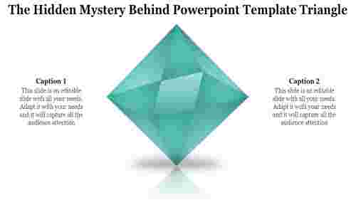 A one noded powerpoint template triangle