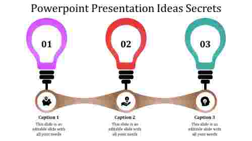 A three noded powerpoint presentation ideas