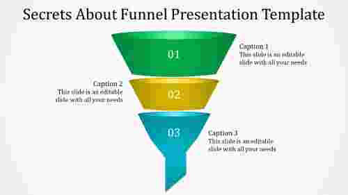 Funnel presentation template-Vertical shaped