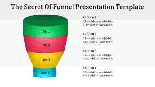 Simple designed funnel presentation template
