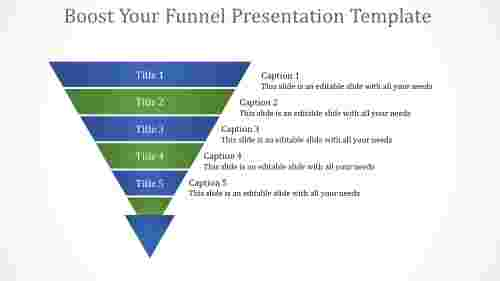 Analytics funnel presentation template